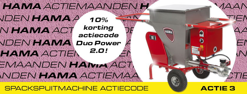 HAMA actiemaanden: 10% korting op Duo Power 2.0 Spackspuitmachine!